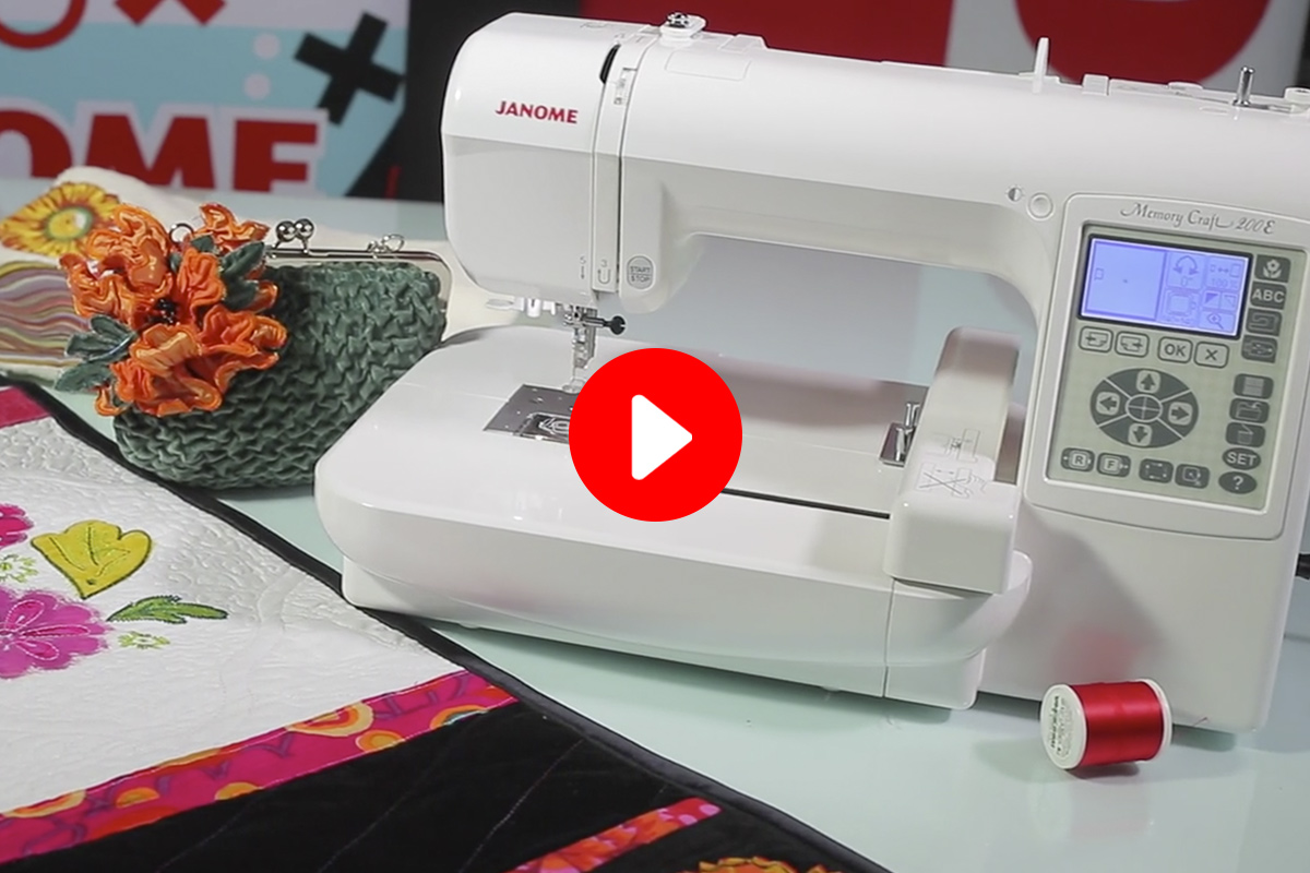 Janome Memory Craft  Tutorial