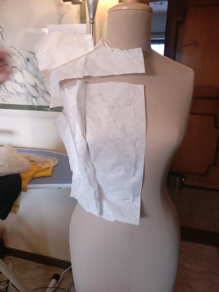 Cartamodello corsetto fase 2